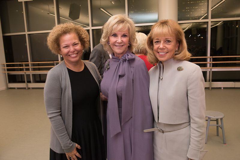 Ailey Board President Debra L. Lee, Elaine Wynn, and Board Chairman Daria Wallach. Photo by Christopher Duggan.