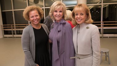 Ailey Board President Debra L. Lee, Elaine Wynn, and Board Chairman Daria Wallach. Photo by Christopher Duggan.