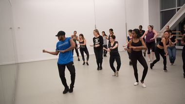Ailey Extension Hip Hop Class with Antonio Jefferson. Photo by Christopher Duggan.