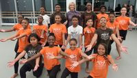 Elaine Wynn and AileyCampers. Photo by Christopher Duggan.