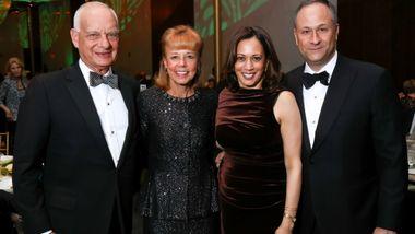 Eric Wallach, Board Chairman Daria Wallach, U.S. Senator Kamala Harris, and Douglas Emhoff
