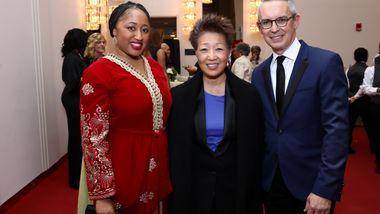Guest, NEA Chairman Jane Chu, and Executive Director Bennett Rink
