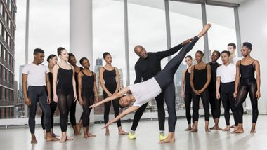 The Ailey School Co-Director Tracy Inman with students from the Professional Division