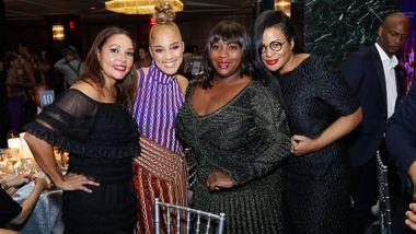 Ailey Board Member Lucinda Martinez, Amanda Seales, Bevy Smith, and Beverly Bond