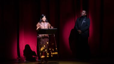 Gala Co-Chair Lata Reddy and Artistic Director Robert Battle