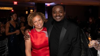 Gala Co-Chair and Ailey Board President Debra Lee and Artistic Director Robert Battle