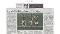 The New York Times - Two Masters, Still in Heady Conversation