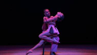 AAADT's Jamar Roberts and Jacqueline Green in Alvin Ailey's Opus McShann from Timeless Ailey 60th Anniversary program
