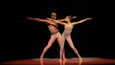 AAADT's Vernard Gilmore and Belen Pereyra-Alem in Alvin Ailey's Hidden Rites from Timeless Ailey 60th Anniversary program