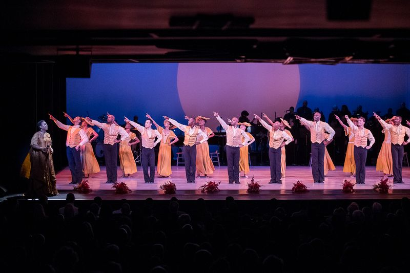 Alvin Ailey American Dance Theater in Alvin Ailey's Revelations with guest singer Ledisi