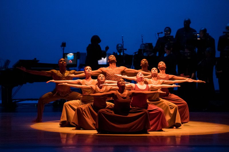Alvin Ailey American Dance Theater in Alvin Ailey's Revelations with live music