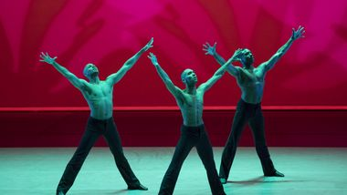 AAADT's Yannick Lebrun, Sean Aaron Carmon, and Michael Jackson Jr. in Alvin Ailey's Revelations
