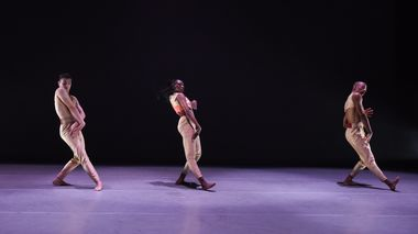 Ailey II's Adrien Picaut, Khalia Campbell, and Christopher R.  Wilson in Juel D. Lane's Touch & Agree. Photo by Nan Melville