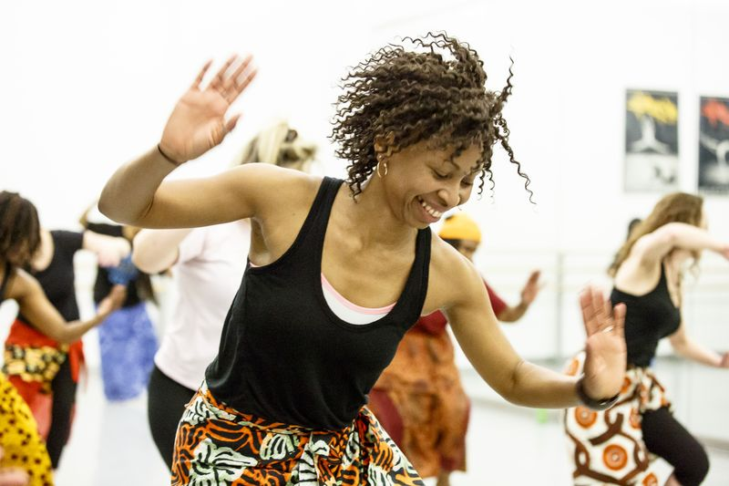 West African class at Ailey Extension