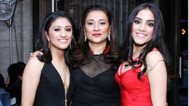 Riya, Jaishri, and Sara Kapoor. Photo by Donna Ward