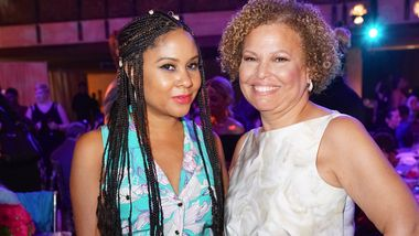 Angela Yee and Ailey Board President Debra Lee. Photo by Pete Monsanto