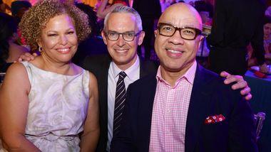 Ailey Board President Debra Lee, Executive Director Bennett Rink, and Darren Walker. Photo by Pete Monsanto