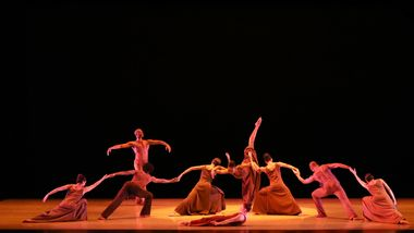 Alvin Ailey American Dance Theater in Alvin Ailey's Revelations. Photo by Donna Ward.