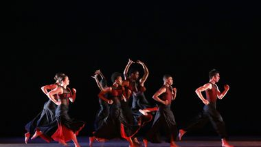 The Ailey School students in Robert Battle's Battlefield. Photo by Donna Ward