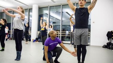 Contemporary Dance with Christopher Jackson at Ailey Extension. Photo by Christian Miles