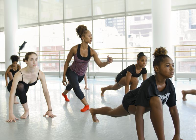 Horton with Karen Arceneaux at Ailey Experience NYC. Photo by Kyle Forman