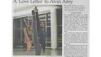 New York Times - A 'Love Letter' To Alvin Ailey