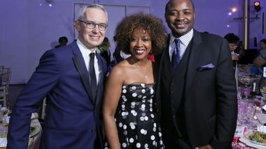 Executive Director Bennett Rink, Honorary Trustee Gina Adams and Artistic Director Robert Battle. Photo © Tony Powell