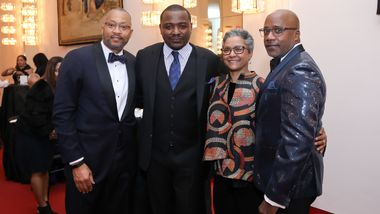 Board Member Anthony Kendall, Artistic Director Robert Battle, The Ailey School Co-Directors Melanie Person & Tracy Inman. Photo © Tony Powell