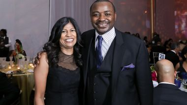 Board Member Lata N. Reddy and Artistic Director Robert Battle. Photo © Tony Powell