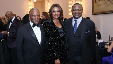 Chris Womack, Gala Co-Chair & Board Member Sela Thompson Collins, and Artistic Director Robert Battle. Photo © Tony Powell