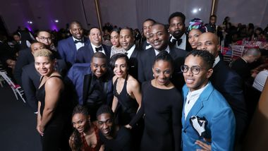 Artistic Director Robert Battle with AAADT Dancers and Guests. Photo © Tony Powell