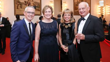 Executive Director Bennett Rink, Kennedy Center President Deborah Rutter, Board Chairman Daria L. Wallach and Eric Wallach. Photo © Tony Powell