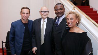 Sergey Gordeev, Honorary Trustee Guido Goldman, Artistic Director Robert Battle and Sarita Allen. Photo © Tony Powell