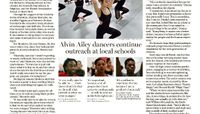The Boston Globe - Alvin Ailey Dancers Continue Outreach At Local Schools