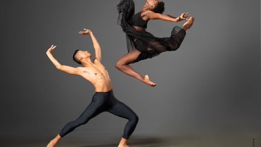 Ailey II 2019 Season Image. Caroline Theodora Dartey and Carl Ponce Cubero. Photo by Kyle Froman