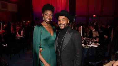 Alvin Ailey American Dance Theater's Khalia Campbell and Darrell Grand Moultrie at Ailey's 2019 Opening Night Gala