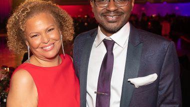 Board President Emerita Debra L. Lee and Ailey's Artistic Director Robert Battle at Ailey's 2019 Opening Night Gala