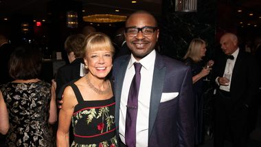 Gala Co-Chair and Board Chairman Daria L. Wallach and Artistic Director Robert Battle at Ailey's 2019 Opening Night Gala
