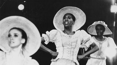 Judith Jamison and Sylvia Waters in Alvin Ailey's Revelations. Photo by Jack Mitchell. (©) Alvin Ailey Dance Foundation, Inc. and Smithsonian Institution