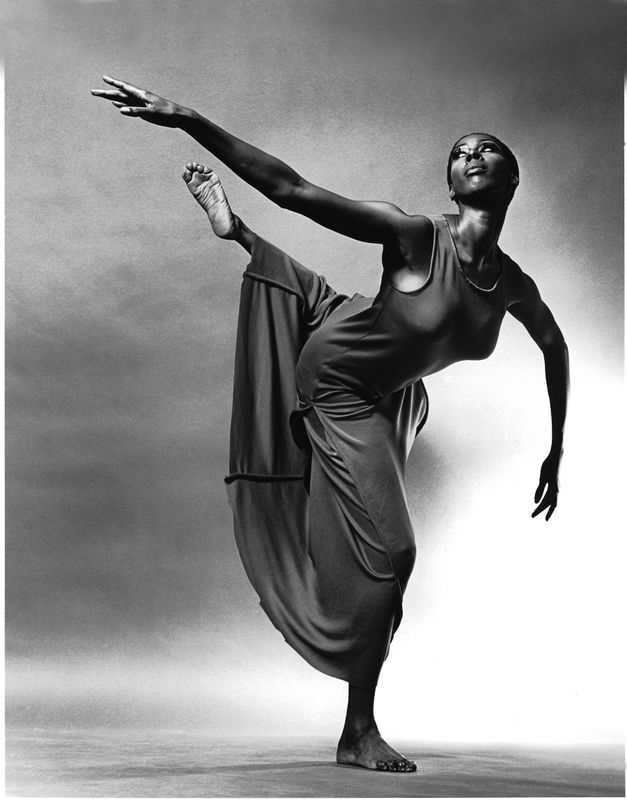 Judith Jamison in Alvin Ailey's Revelations. Photo by Jack Mitchell. (©) Alvin Ailey Dance Foundation, Inc. and Smithsonian Institution