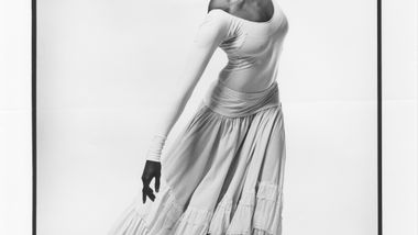 Judith Jamison in Alvin Ailey's Cry. Photo by Jack Mitchell.  (©) Alvin Ailey Dance Foundation Inc. and Smithsonian Institution