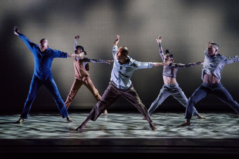 Alvin Ailey American Dance Theater in Camille A. Brown's City of Rain. Photo by Paul Kolnik