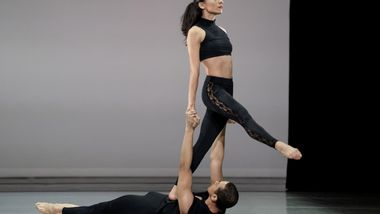 Alvin Ailey American Dance Theater's Clifton Brown and Danica Paulos in Lar Lubovitch's Fandango