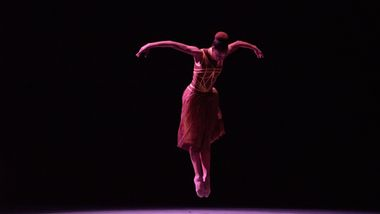 Ailey II's Corrin Rachelle Mitchell in Troy Powell's Ebb and Flow. Photo by Nan Melville
