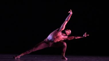 Ailey II's Leonardo Brito in Troy Powell's Ebb and Flow. Photo by Nan Melville