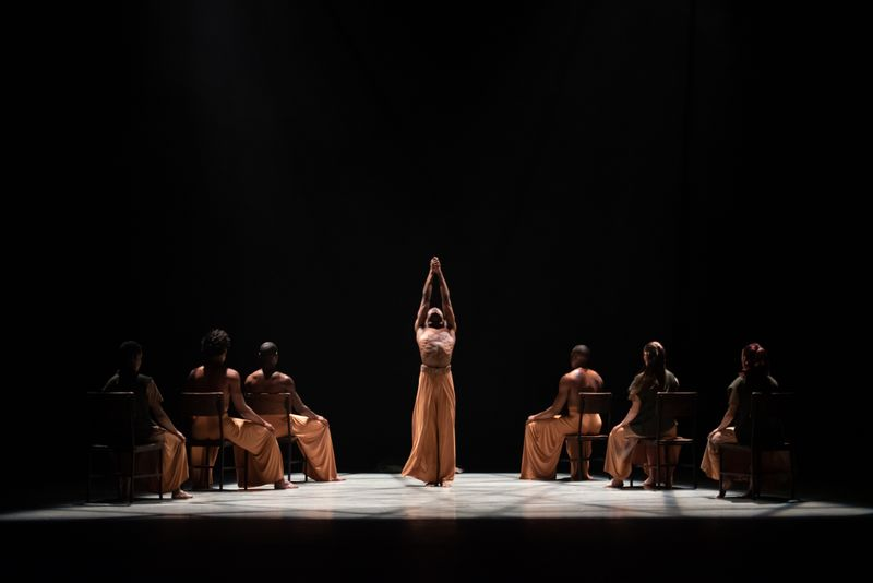 Ailey II in Robert Battle's Flock. Photo by Nan Melville