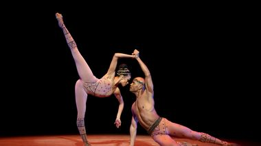 AAADT's  Belen Pereyra-Alem and Vernard Gilmore in Alvin Ailey's Hidden Rites from Timeless Ailey 60th Anniversary program
