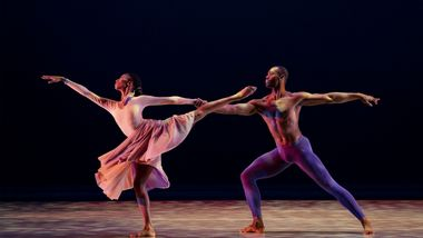 AAADTs Jamar Roberts and Jacqueline Green in Alvin Ailey's The Lark Ascending from Timeless Ailey 60th Anniversary Program