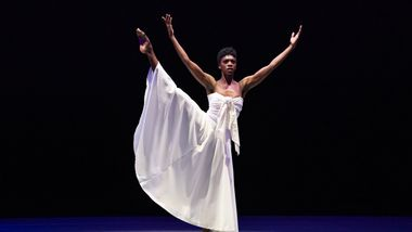 AAADT's Khalia Campbell in Alvin Ailey's Mary Lous Mass from Timeless Ailey 60th Anniversary program