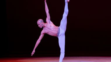 AAADT's Yannick Lebrun in Alvin Ailey's Streams from Timeless Ailey 60th Anniversary program